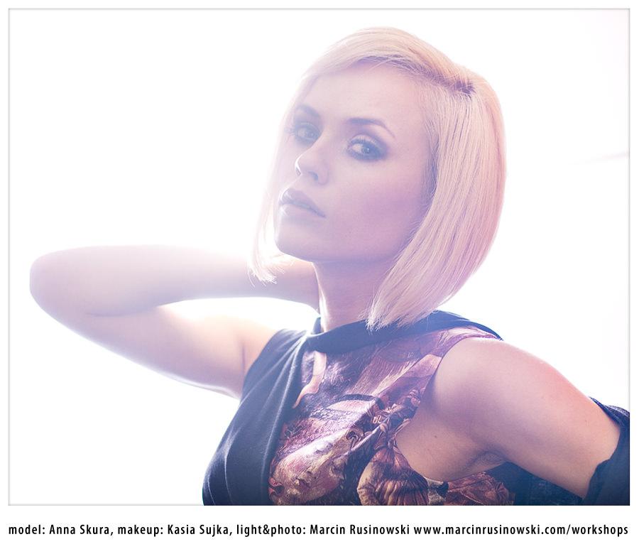 workshop światło Marcin Rusinowski modelka Anna Skura makeup Kasia Sujka fotograf moda portret lifestyle
