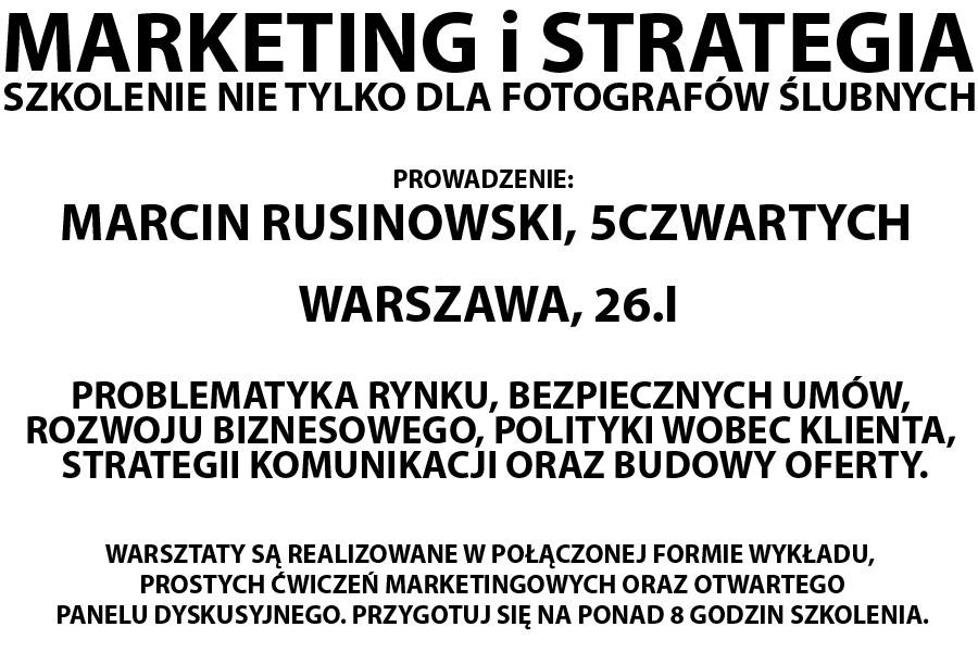 kolejna edycja warsztatów – marketing i strategia dla fotografów