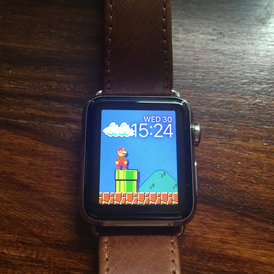 Super Mario Bros background for Apple Watch