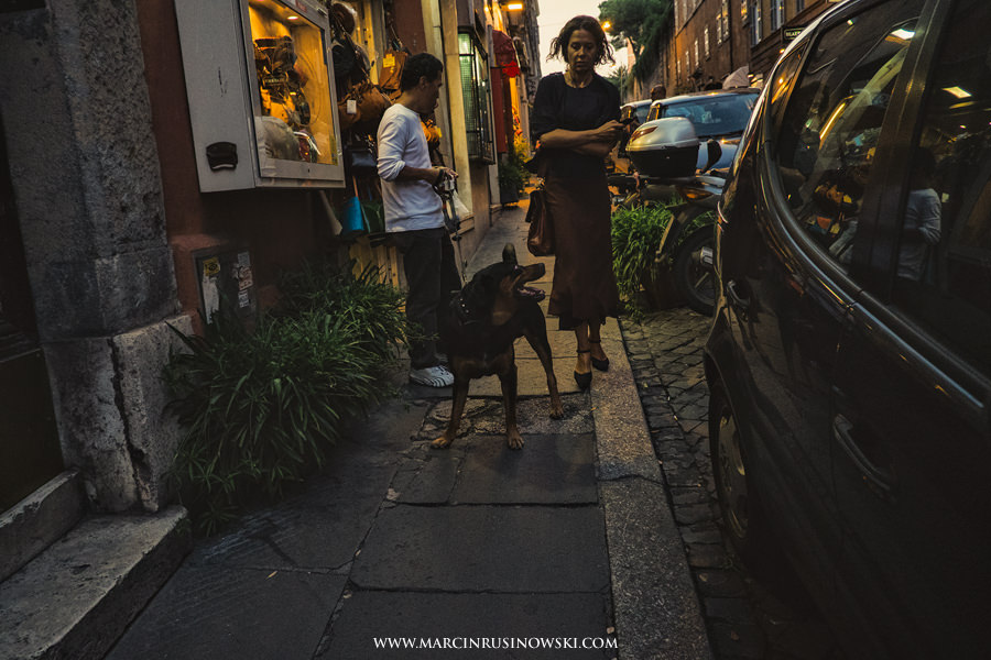 Roma, woman, dog, man, Marcin Rusinowski, photographer, Leica M9